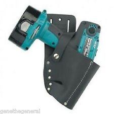 IRWIN SADDLE LEATHER CORDLESS DRILL HOLSTER POUCH BAG FITS DEWALT, BOSCH, MAKITA