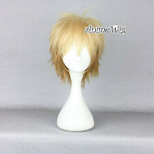 Mix Blonde Noragami /Stray God Yukine Short Layered Hair Men Fashion Cosplay Wig