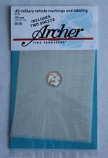 Archer 1/35 US Military Vehicle Generic Markings and Labeling (White) AR35001W