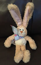 Gund MINI MASON Bunny Rabbit Blue Bow Soft Toy 25cm Bendable Ears