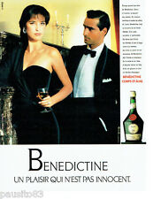 PUBLICITE ADVERTISING 036  1989  Bénédictine  liqueur