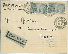 FRANCE - LETTRE - AIR MAIL PAR AVION a TUNIS 1935