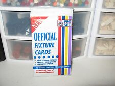 PRO SET OFFICIAL FIXTURE CARDS 1990/91  HIGHLIGHTS NEW SEALED