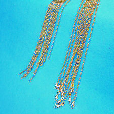"""Wholesale 5X 24"""" Fashion Jewelry 18K Gold Filled Pearl Cross Chains Necklaces"""