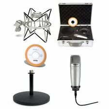 Samson C01U Pak USB Microphone Podcasting Kit Includes Sonar Recording Software