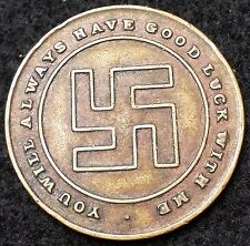 Swastika Good Luck Token Wilkie's Glove Phit Shoes Always Have Good Luck With Me