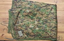 Excellent PONCHO LINER Woodland Digital Camo US Made Military Issue USMC ARMY