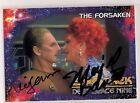 Star Trek Signed Card DUAL Auto 1993 Series DS9 R. Auberjonois M. Barrett v105