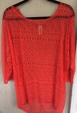 Women's R. ROUGE Summer Swim Suit Cover Up Top / Tunic Top  Plus Size 2X / 3X