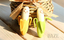 2pcs Banana Fruit Style Rubber Pencil Eraser Office Stationery Gift Toy UK