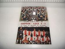 Cartolina Foto e Annullo Speciale UDINE 4.11.1997 COPPA UEFA 1997-1998