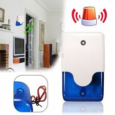 12V Mini Sirène Système Alarme Filaire Flashing Lumière Pr Maison Sécurité 110dB