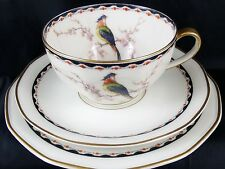 Theodore Haviland Limoges 1920's Bird of Paradise Porcelain Trio's