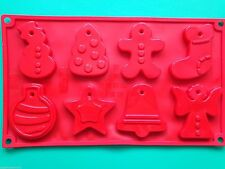 Christmas shapes Silicone Mould for Christmas tree decorations Cookies Chocolate