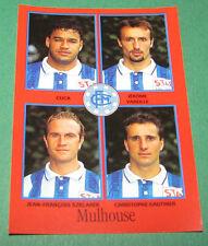 N°348 CUCA VAREILLE SZKLAREK MULHOUSE D2 PANINI FOOT 97 FOOTBALL 1996-1997
