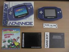 Game Boy Advance Purple Indigo GBA Handheld System Brand Complete in Box