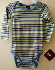New With Tags ~ Tea Collection Smokey Blue Stripe Cotton Knit Top - Boy's 0-3M