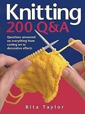 Knitting: 200 Q&A: Questions Answered on Everything from Casting On to-ExLibrary