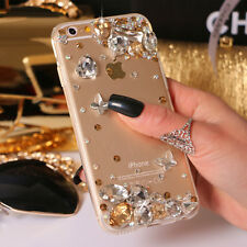 Crystal Gems Diamonds butterfly Soft ultra thin TPU back Gel Shell case cover A