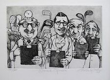 """CHARLES BRAGG """"SECOND OPINION"""" Hand Signed Limited Edition Etching GOLF DOCTOR"""