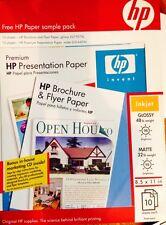 HP Q1987A Brochure/Flyer Paper Glossy & Q5449A Premium Presentation Paper Matte