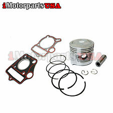 STD PISTON W/ RINGS & GASKETS SET HONDA 70CC CRF70F XL70 XR70 C70 CT70 CL70 SL70