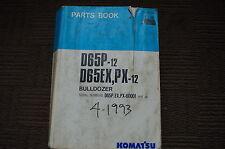 KOMATSU D65-12 BULLDOZER Parts Manual book catalog TRACTOR crawler 1993 SPARE