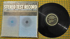 VG++ HiFi Stereo Review Test Record Model 211 w/ Insert LP VPI Cleaned