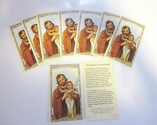 Lot of 25 Holy Cards, Prayer Cards of St. Joseph  with Infant Jesus