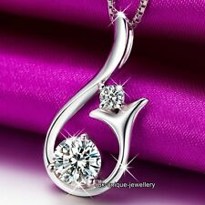 BLACK FRIDAY DEALS - 925 Silver Crystal Necklace Women Xmas Gift For Hers Women
