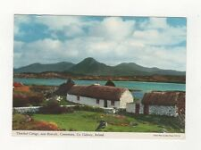 Thatched Cottage Connemara Co Galway Ireland 1989 Postcard 436a