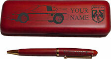 Pontiac Fiero GT Rosewood Pen Case Laser Engraved - Nice Quality