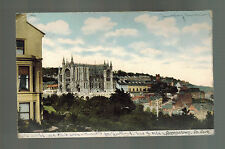 1905 Queenstown Cork Ireland Picture postcard Cover to USA Paqueboat City View