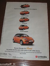 *AO89=CITROEN C3 PLURIEL=PUBBLICITA'=ADVERTISING=WERBUNG=COUPURE=