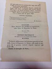 REGIO DECRETO 25 agosto 1863  modifica al reg. Cassa di Risparmio Osimo - 518