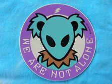 Grateful Dead We Are Not Alone Alien Bear 3 Inch Sticker
