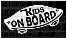 Kids on board vans skate board skater patinage decal autocollant vinyle signe unisexe vw