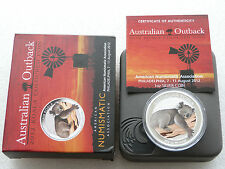 2012 Australia Outback Koala Colour $1 One Dollar Silver 1oz Coin Box Coa