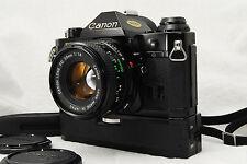 """""""Exc+++"""" Canon AE-1 Program 35mm SLR Camera w/50mm lens Kit & Power winder Japan"""