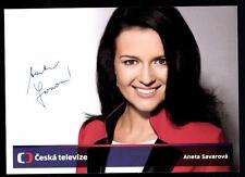 Aneta Savarova Autogrammkarte Original Signiert ## BC 52691