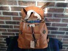 RARE VINTAGE BRITISH TAN BASEBALL GLOVE LEATHER BACKPACK RUCKSACK BAG R$1398