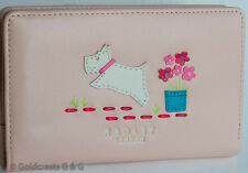 RADLEY Women's Pink Leather Flap Wallet Separate All-Around Zip Purse Pockets