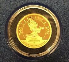 Fantasia WALT DISNEY 1 OZ .999 FINE Gold - 1990 50th Anniversary with COA