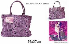 Ladies Lilac & Pink Faux Snakeskin Large Shoulder Bag by Designer Bcbgmaxazria