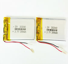 2pcs 3.7V 300mAh Lipo Polymer rechargeable Battery for Bluetooth Camera 303040