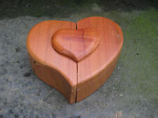 Wooden Magic Puzzle Trinket Box With Secret Compartment HEART Great Gift Idea