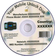 Cell Phone Unlock/Unlocking Software CD/DVD Disk and Free Mobile Unlock 8GB.