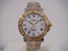 RAYMOND WEIL PARSIFAL DATE WHITE DIAL TWO-TONE ST. STEEL MEN'S WATCH 9550 NEW