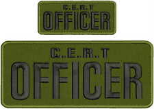C.E.R.T OFFICER EMBROIDERY PATCH 4X10 AND 2X5  hook on back