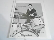 #956 VINTAGE 8x10 MUSICIAN PHOTO - SLINGERLAND drums - LOUIE BELLSON